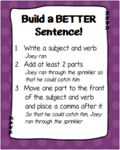 Build a Better Sentence! {Workshop Wednesday – Writing Minilesson}