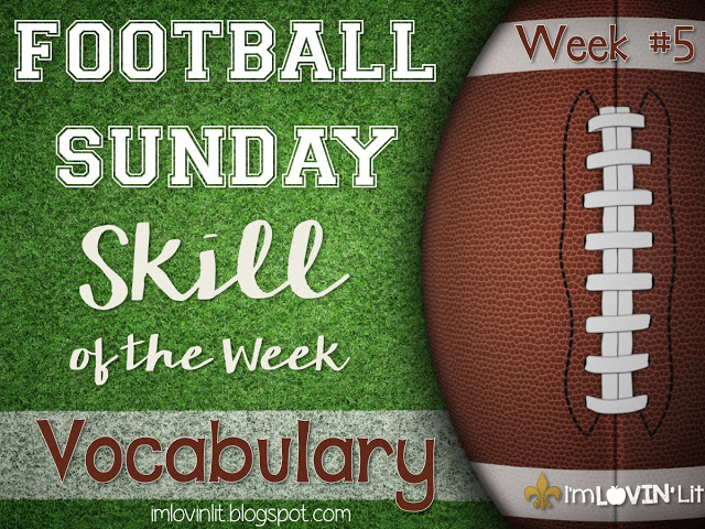 Vocabulary: Football Sunday Skill of the Week!