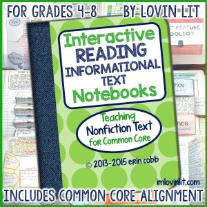 Personal Note + Update on Informational Text Notebook