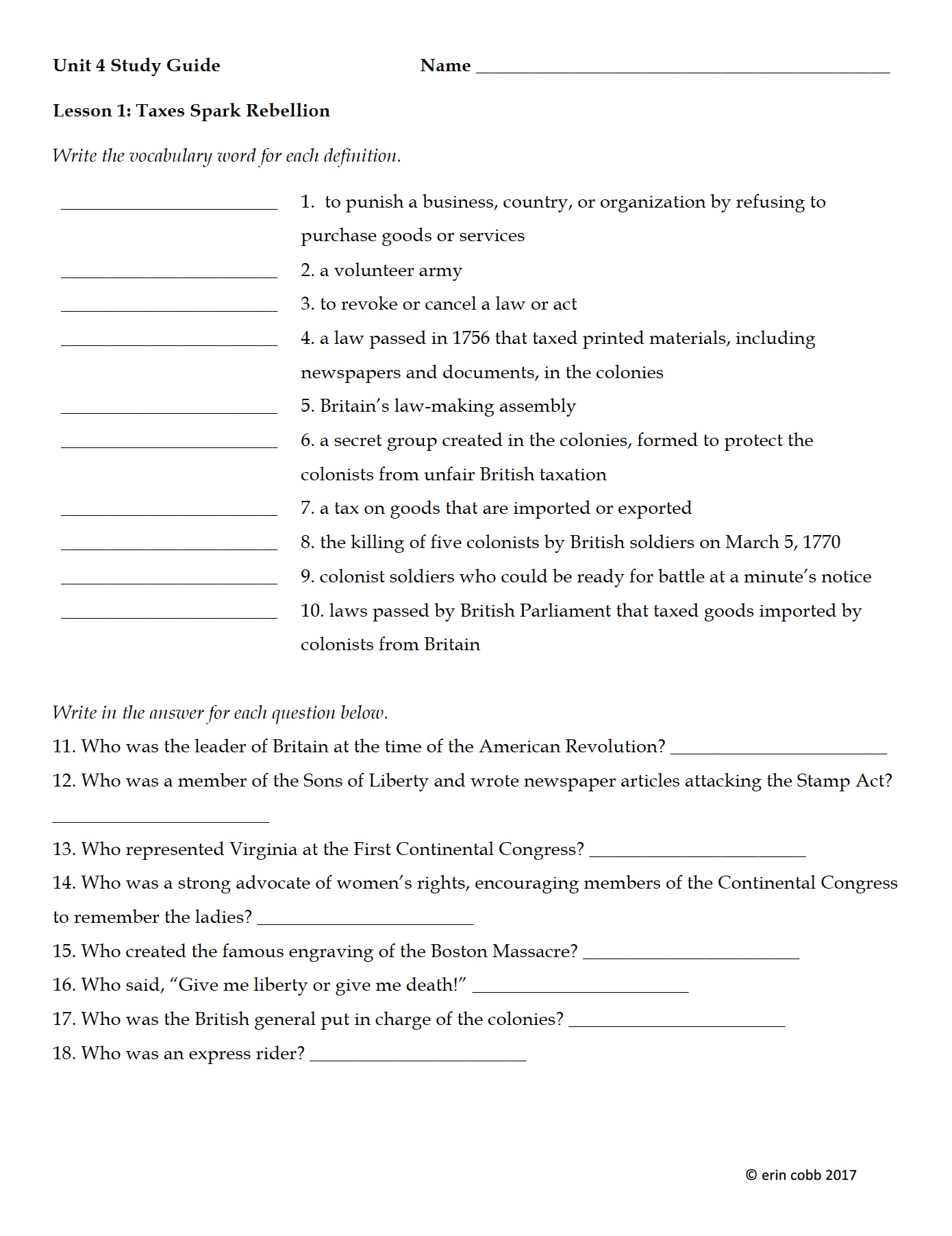 the american history resources you need i m lovin lit bloglovin you can get a closer peek of each one by clicking the image and as always i have included complete answer keys and sample answers for essay questions