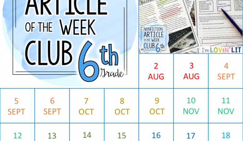 Nonfiction Article of the Week Clubs for Grades 5, 6, 7, & 8 are Here!