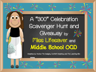 Favorite Teacher Giveaway & Scavenger Hunt