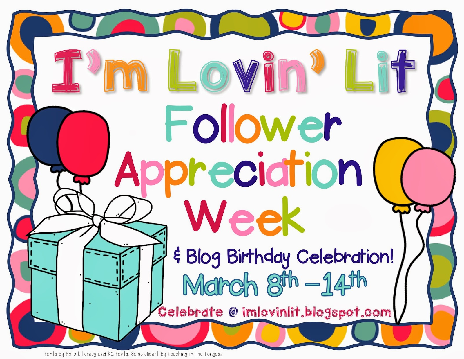It's FOLLOWER APPRECIATION WEEK!
