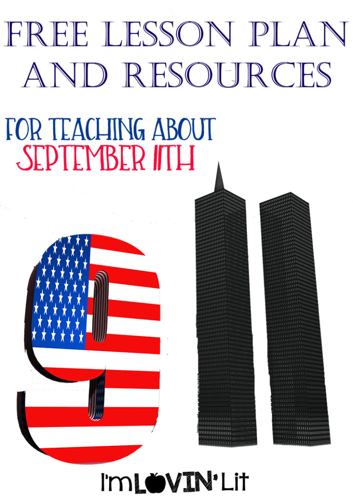 USA flag and World Trade Center twin tower buildings for 9 - 11, 3D illustration for remembrance