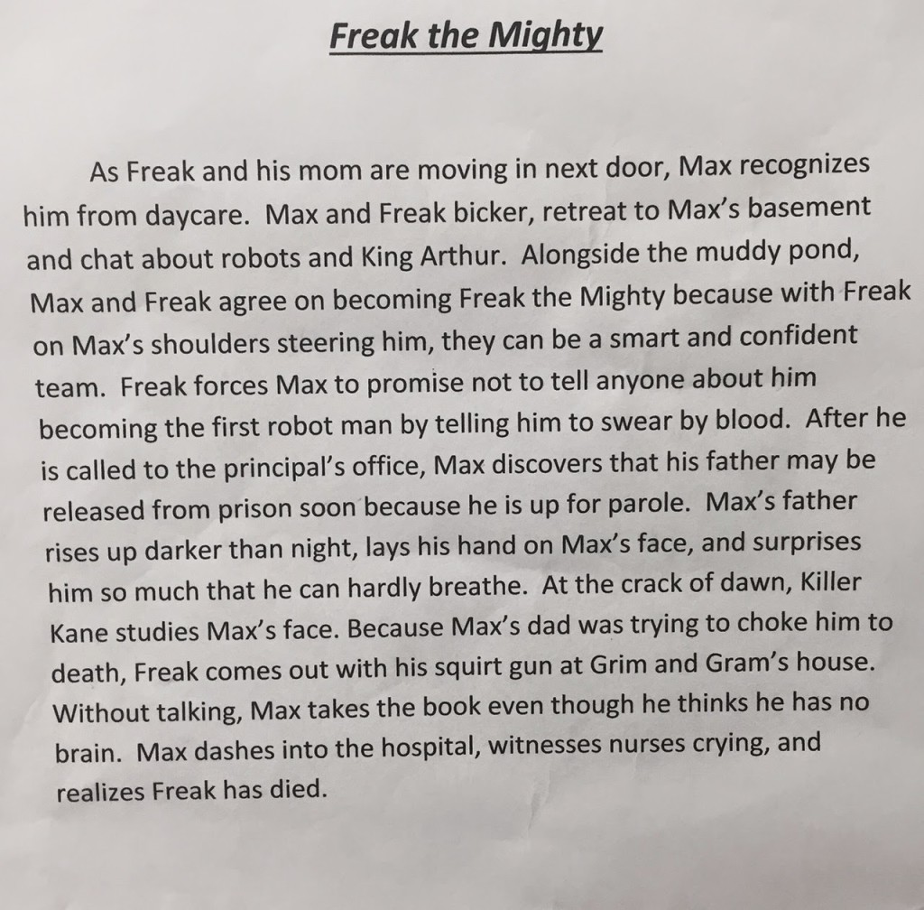 freak the mighty full book