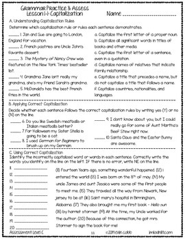 photo about Grammar Cheat Sheets Printable identify Grammar Worksheets and Checks: Grades 7-8 NO PREP Printables