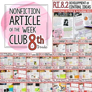 Article Of The Week Club 8th Grade Nonfiction Reading Comprehension Passages